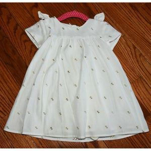Baby Girls Chloe White and Gold Dress